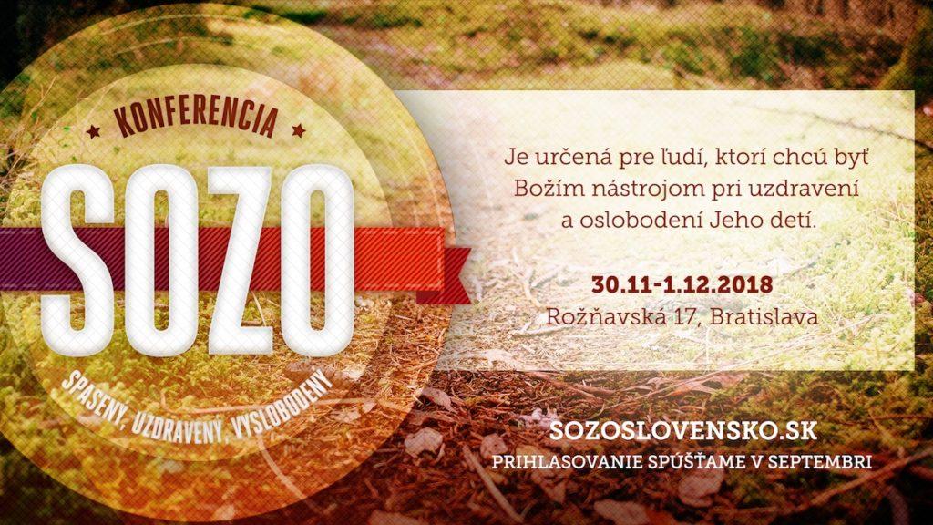 Sozo konference 30.11.-1.12.2018 Bratislava